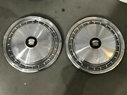 2 Pc Cadillac Fleetwood Deville Hubcaps Wheel Covers 16 1977 1978 Km