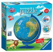 Ravensburger Children's World Globe 180 Piece 3d Jigsaw Puzzle For Kids And Af/s