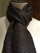 Nwt Loro Piana Cashmere Blend Brown With Metallic Silver Scarf Fs