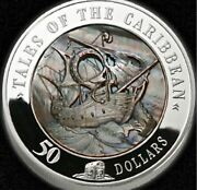 Cook Islands 2008 50 Tales Of Caribbean Black Pearl 5 Oz Silver Coin Pf69 Uc