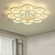 Led Ceiling Lamp Acrylic Lamp Crystal Drops Chandelier Bedroom Dimmable Lighting