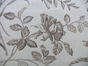 10y Scalamandre Hope French Toile Cotton Tulip Rose Sunflower Coffee Msrp160