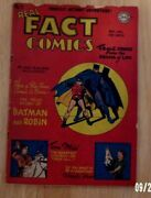 Real Fact Comics 5 1946 Solid Vg- Creation Of Batman,tom Mix,paul Robeson,more