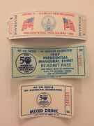 Three Different 1981 And 1985 President Ronald Reagan Inauguration Event Tickets