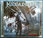 Megadeth Andlrmandndash Dystopia Andndash Fully Signed By The Original Lineup