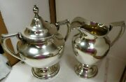 Vintage Sterling Silver Wallace Company Coventry 365 Creamer And Sugar Set 713g