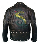 Fallout Snake Rule Tunnel 3 Genuine Distressed Brown Biker Leather Jacket