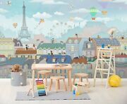 3d House Ferris Whe I286 Business Wallpaper Wall Mural Self-adhesive Commerce An