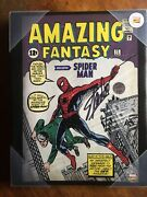 Signed Stan Lee Amazing Fantasy 15 11x14 Art Print Canvas Mounted Wood