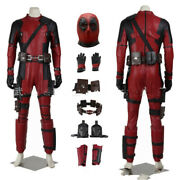 High Quality Deadpool Cosplay Costume Full Suit Superhero Wade Jumpsuit Mask Cos