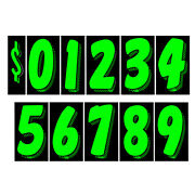 Car Dealer Windshield Stickers 13 Dozen Pricing Numbers 7.5 Inch Dealership Tags