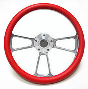 Harley Davidson Golf Cart 14 Red Steering Wheel Includes Horn And Adapter