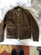 Very Rare Vintage Clothing Lvc Ride The Wild Leather Jacket.