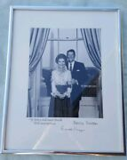 Signed Collectible Ronald And Nancy Reagan Photograph In Picture Frame Vintage