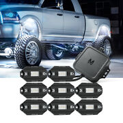 Mictuning Rgbw Offroad Led Rock Light 8x Pods Bluetooth Music Control Wireless