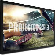 110 Inch Fixed Aluminum Frame Projector Screen Home Theatre Hd Tv Projection 3d