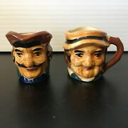 Miniature Toby Mugs Englishman Figurines Made In Occupied Japan