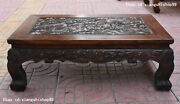 Chinese Huanghuali Wood Hand Carving Dragon Pattern Furniture Table Desk Tables