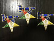 Past Matron Oes Eastern Star Iron-on Patch Metallic Gold Lot Of 20 For 50.00 3