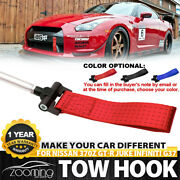 Track Racing Style Nylon+aluminum Tow Hook Ring Fit For Nissan 370z Gt-r Juke