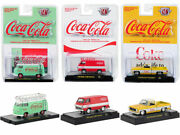 Coca-cola Release Set Of 3 Cars 1/64 Diecast Models By M2 Machines 52500-a01