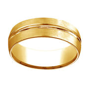 10k Yellow Gold 7mm Comfort Fit Satin Finish Menand039s Wedding Band Ring Sz 13