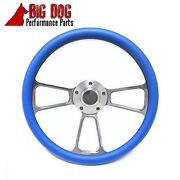 Harley Davidson Golf Cart14 Sky Blue Steering Wheel Includes Horn And Adapter