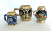 Three Small Vintage Beer Steins / Mugs From Japan And Germany
