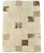 Eco Lambskin Cover Plaid Blend Grey Beige 70 7/8x47 3/16in Throw Over