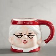 Pottery Barn Mrs Claus Santa Claus Mugs Christmas Cups Set Of 4 Sold Out New