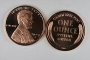 1909 S Vdb Wheat Cent Penny - 1 Avdp Ounce .999 Fine Copper Round Uncirculated