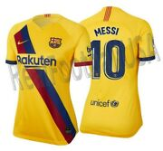 Nike Lionel Messi Fc Barcelona Womenand039s Away Jersey 2019/20
