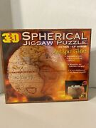 New Sealed 3d Spherical Jigsaw Puzzle Antique Globe 530 Piece 1998 Buffalo Games
