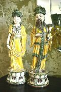 2 Vintage Zaccagnini Italy Hollywood Regency Mid Century Asian James Mont Figure