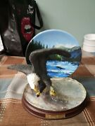 Bradford Exchange Force Of Nature Eagle Figurine Collectors Plate Plate No A3040