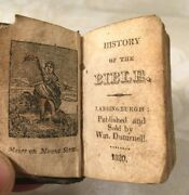 History Of The Bible Miniature Book 1820 Lansingburgh Ny By William Disturnell