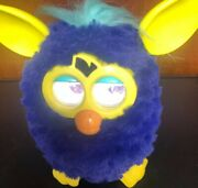 Rare Electronic Starry Night Furby Purple With Yellow Ears/feet Works Great