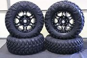 Can Am Commander 1000 27 Street Legal Tire And 14 Hd7 Smoke Wheel Kit Can1ca