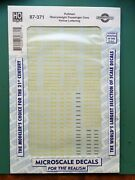 Microscale Decals 87-371 Pullman Heavyweight Passenger Cars Yellow Lettering