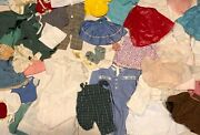 Lot Of 47 Small To Large Antique Vintage Baby Doll Clothes Shoes Hat
