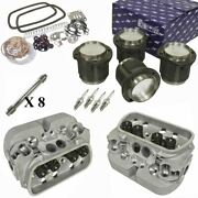 1835cc Air-cooled Vw Engine Rebuild Kit Top End Gtv-2 Heads And Pistons