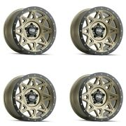 Set 4 20 Dirty Life 9305 Theory Matte Gold Lifted Truck Wheels 20x9 6x5.5 0mm