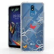For Lg K40 2019 X420 Lg Solo Hybrid Bumper Shockproof Case Butterfly Tune