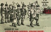 1890's J. Forrest, Sioux Falls, Sd School Shoes Kids Parade Spirit Of 76 P179