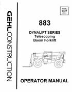 Gehl 883 Dynalift Boom Forklift Operators Owners Manual 907336 1995 Bound Book