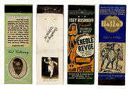 Cab Calloway Bojangles Robinson Et Al Jazz Group Of 1930and039s Matchbook Covers