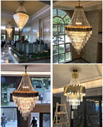 Creative Led Crystal Dining Room Lights Villas Stairs Long Hanging Pendant Lamp