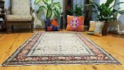 Fine Vintage 1939-1950and039s Natural Dye 3and03910andtimes 5and0398 Wool Pile Legendary Hereke Rug