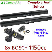 8x Bosch 1150cc E85 Injectors And Fuel Rail Set-up For Holden Commodore Police Vx