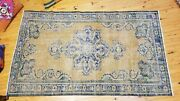 Primitive Vintage 1960-1970and039s Turkish Isparta Rug 3and03911 Andtimes 6and0398